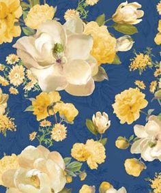Wilmington Danhui Sunshine Bouq Large Floral Blue