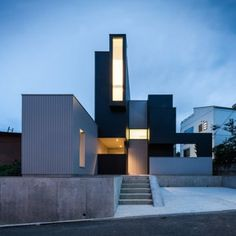 Kouichi Kimura's Scape House uses a variety  of windows to create a hierarchy of views