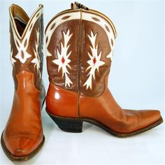 Vintage mens cowboy boots
