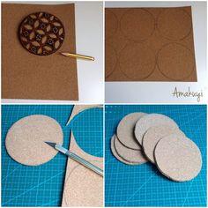 Cómo hacer posavasoso de corcho : via MIBLOG
