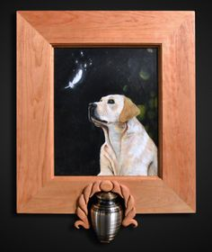 memorial frame for golden lab rip labrador dog goldenlab art