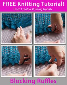 Free Knitting Tutorial from Creative Knitting newsletter:  Knitting Tutorial: Blocking Ruffles by Tabetha Hedrick. Click on the photo to access the tutorial. Sign up for this free newsletter here: www.AnniesNewsletters.com.