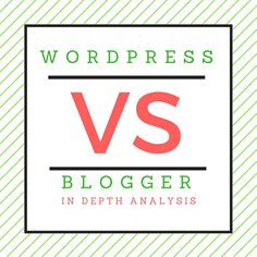 A head to head comparision between blogger and wordpress.com and wordpress.com. Must Read before you take any decision.