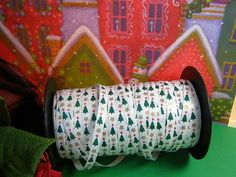 1/4 Christmas Trees Ribbon by MrsSupply on Etsy, 0.40