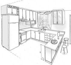 10 x 8 kitchen layout Kitchen Room Design, Modern Kitchen Design, Home Decor Kitchen, Kitchen Furniture, Kitchen Interior, New Kitchen, Kitchen Ideas, Kitchen Sinks, Country Kitchen