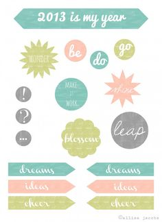 Love this! :: Course Charting for 2013 – DIY Journal and Printable Sticker Download « oh my! handmade goodness