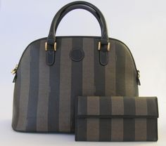 I am selling this vintage authentic FENDI bowler bag with matching wallet on eBay. Don't miss it!!