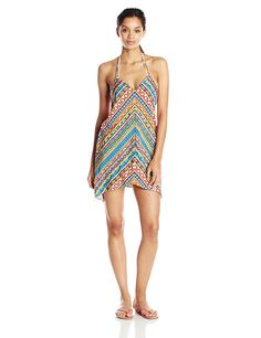 Trina Turk Women's Peruvian Stripe Short Cover Up Dress * See this awesome image : Fashion