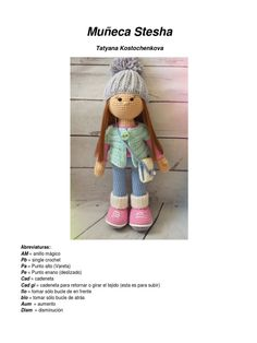 Amigurumi Doll, Art Activities, Crochet Projects, Teddy Bear, Dolls, Sewing, Drawings, Pattern, Animals