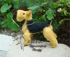 Project by Lesena. Welsh Terrier dog crochet pattern by Tatiana Chirkova for LittleOwlsHut #Dog# Schnauzer# miniature# DIY & Crafts# Chirkova# Kanareyka# LittleOwlsHut# amigurumi# toy#