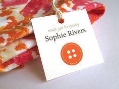 Customized Hang Tag Sewing Tags Personalized von GalleryintheGarden, $12.00