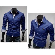 Camisa Social Masculina A & F  #moda #modamasculina #inspiração #lookmasculino #lookdodia #homem #roupadehomem #dicasdemoda #camisamasculina #camisasocial #azul Camisa Social Jeans, Camisa Slim, Moda Polo, Suit Jacket, Shirt Dress, Suits, Mens Tops, Jackets, Dresses