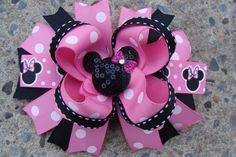 Hey, I found this really awesome Etsy listing at https://www.etsy.com/listing/105751741/minnie-mouse-hair-bow-large-hair-bow