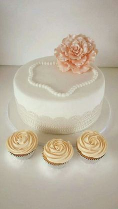 Elegant cake and Cup cakes
