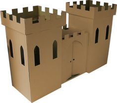 Cardboard Castle Playhouse Toy (brown) By Kideco