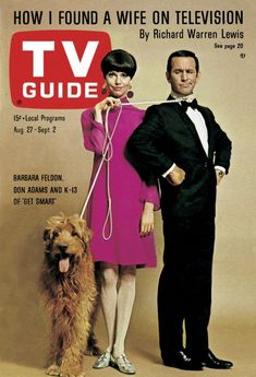 """TV Guide: August 27, 1966 - Barbara Feldon and Don Adams and K-13 of """"Get Smart"""""""