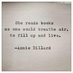 Annie Dillard Quote Typed  on Typewriter on by WhiteCellarDoor