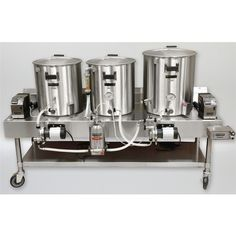 Brewery Equipment, Home Brewing Equipment, All Grain Brewing, Home Brewery, Stainless Steel Table, Brew Pub, Heating Element, Beer Brewing, Espresso Machine