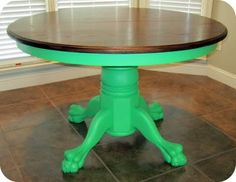 Kitchen table top redo coats for 2019 Table Top Redo, A Table, Dining Table, Kitchen Tables, Dining Room, Furniture Makeover, Diy Furniture, Green Kitchen Island, Antibes Green