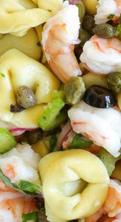 Chilled Italian Shrimp and Tortellini Salad