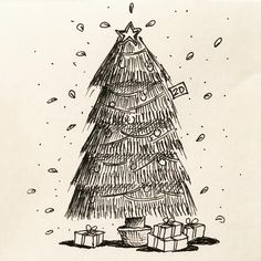 www.lucas2d.com #sketch #sketchbook #draw #drawing #ink #illustration #tree #doodle #trees #arvore #arvores #xmas #natal #arvoredenatal #nature #natureza #folha #folhas #natural #artwork #beautiful #christmas #plant #plants #love #fun #graphic #like #desenho #art