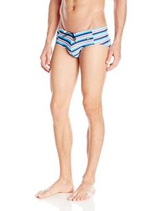 Mundo Unico Mens Playa Tejido Swim Brief Tricolor Large * Find out more about the great product at the image link.