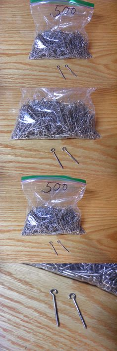 Other Terminal Tackle 179977: 500 Vintage Nickel Plated Brass Open Ring Screw Eyes For Lure Making 1 1 2 Size -> BUY IT NOW ONLY: $59.95 on eBay!