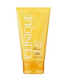 Best Anti-Aging Sunscreen: Clinique Sun SPF 50 Body Cream #FestivalFever #PrettyPolly #GossardUK