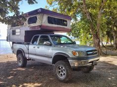 2000 Toyota Tundra and 2004 Palomino Bronco pop top camper combo.  The truck and camper... Going back to work :-(