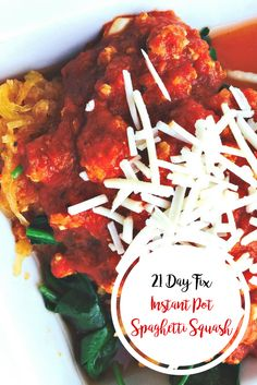 21 Day Fix Instant Pot Spaghetti Squash   Confessions of a Fit Foodie