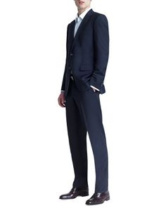 Basic Two-Button Suit, Navy by Boss Hugo Boss at Neiman Marcus.