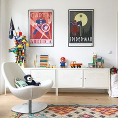 "1,932 mentions J'aime, 70 commentaires - Luis & Luise (@luisluise) sur Instagram : ""Happy Sunday ihr Lieben • • #kidsroom #kidsroomdecor #solebich #posterdesign #marvel #ikea…"""