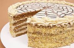 Receptbázis - Eszterházy torta - 6 x 2 db x dkg x… Hungarian Desserts, Hungarian Cake, Hungarian Cuisine, Hungarian Recipes, Esterhazy Torte, Pastry School, Easy Sweets, Torte Cake, No Bake Cake