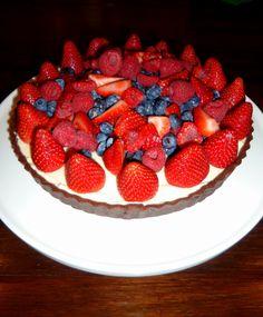 Chocolate Berry Cheesecake Tart