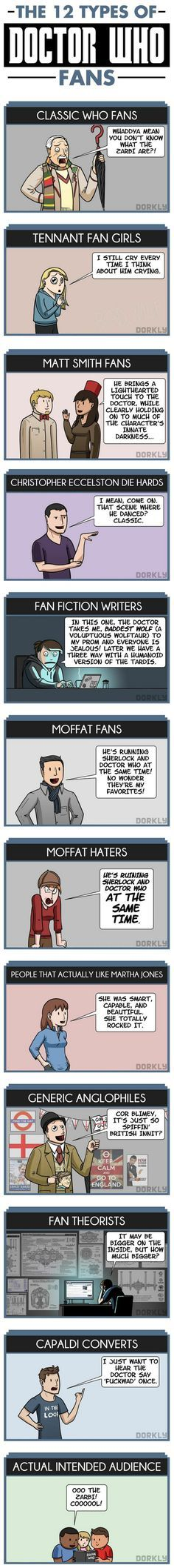 12 Types of Doctor Who Fans
