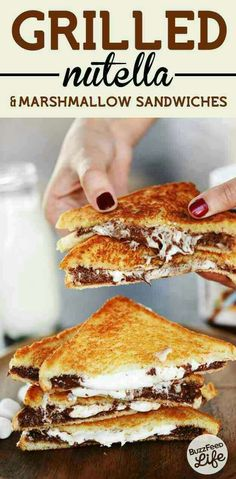 Grilled nutella and marshmallow sandwich#Food&Drink#Trusper#Tip