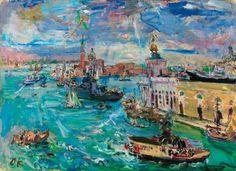 Oskar Kokoschka Venezia, Bacino di San Marco - (1948)