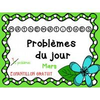 Problèmes du jour : mars (Échantillon)