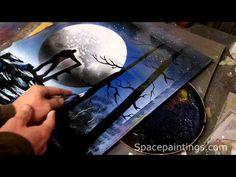 Snowboarder Spray Paint Art