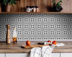 Peel And Stick Tile, Stick On Tiles, Kitchen Decals, Kitchen Backsplash, Wall Tiles For Kitchen, Morrocan Tiles Kitchen, Bathroom Decals, Backsplash Ideas, Tile Decals