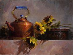 Té y pasteles por Kathy Tate aceite ~ 12 x 16