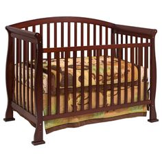 @Overstock.com - DaVinci Thompson 4-in-1 Convertible Crib with Toddler Rail in Coffee - Provide an oasis of comfort for your child with this convertible crib with toddler rail. This four-in-one crib is made from New Zealand pine and features a non-toxic finish. You can convert the crib to a full-sized bed, toddler bed, or daybed.    http://www.overstock.com/Home-Garden/DaVinci-Thompson-4-in-1-Convertible-Crib-with-Toddler-Rail-in-Coffee/6209155/product.html?CID=214117 $192.34