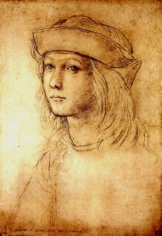 Raphael (Raffaello Sanzio da Urbino) ~ Self-Portrait, c.1499