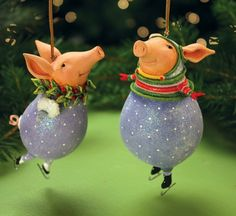 Patience Brewster Fred and Esther Pig Ornament   Patience Brewster   0830802