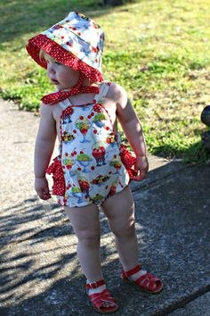 Isobel in her Retro Sundaes romper! Rock You Baby, Learn To Sew, Little Star, Pregnancy, Rompers, Stars, Retro, Sewing, Clothes