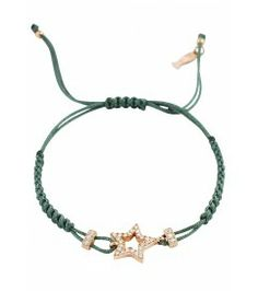 Makramee Armband mit Stern Shop here > http://www.lajoia.de/de/makramee-armband-stern-rose-vergoldet.html