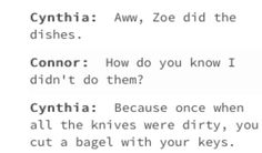 juST RIP THE BAGEL APART LIKE A MAN (credit: incorrectdehquotes on tumblr)