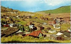 Victor, Colorado Postcard Panorama Bird's-Eye View w/ 1970 Cancel Dexter Chrome