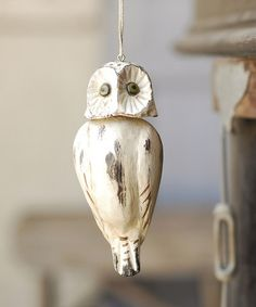 Take a look at this White Hoot Ornament by Lancaster Home & Holiday on #zulily today!
