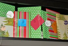 HOW TO: Make a Simple Advent Calendar Using Books - Omg my family totally did this when I was little! My sisters and I would unwrap a book every night before Christmas and Mom would read it to us before bed. Good memories :)